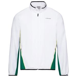 Chaquetas Tenis Hombre Head Club Chaqueta  White/Green 811309WHGE