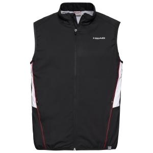 Men's Tennis Jackets Head Club Vest  Black 811319BK