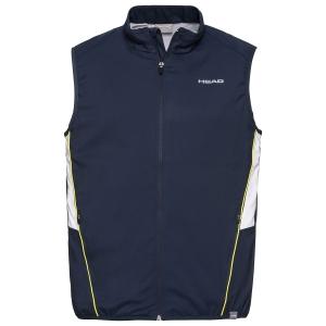 Men's Tennis Jackets Head Club Vest  Dark Blue 811319DB