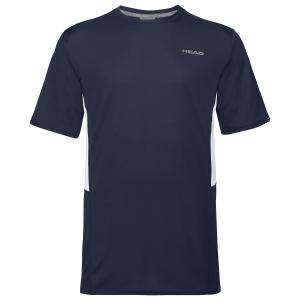 Men's Tennis Shirts Head Club Tech TShirt  Dark Blue 811349DB