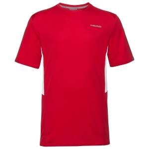 Men's Tennis Shirts Head Club Tech TShirt  Red 811349RD