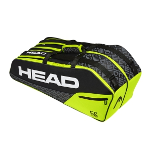 Tennis Bag Head Core x 6 Combi Bag  Black/Lime 283519 BKNY