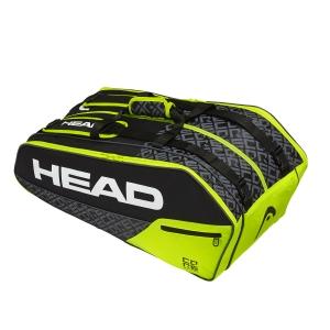 Tennis Bag Head Core x 9 Supercombi Bag  Black/Lime 283509 BKNY