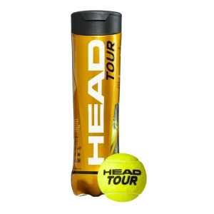Head Tennis Balls Head Tour  4 Ball Can 570704