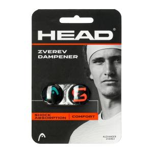 Vibration Dampener Head Zverev x 2 Dampeners  Black 285120 TEHL