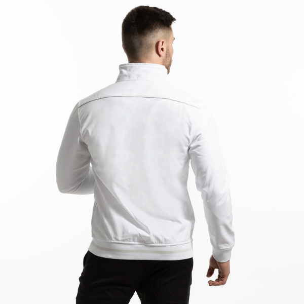 Joma Campus II Soft Shell Chaqueta - White/Silver