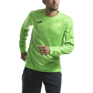 Men's Tennis Shirts and Hoodies Joma Grafity Fleece  Fluo Green 101329.020