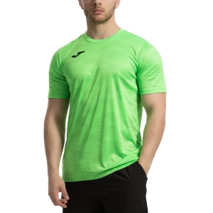 Men's Tennis Shirts Joma Grafity TShirt  Fluo Green 101328.020