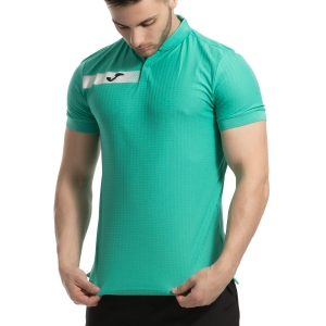 Polo Tennis Uomo Joma Open Polo  Aqua Green/Black 101342.400