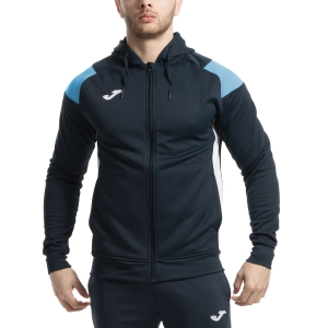 Men's Tennis Jackets Joma Poly Crew III Jacket  Navy/Light Blue/White 101271.342