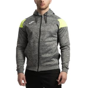 Men's Tennis Jackets Joma Poly Crew III Jacket  Grey/Black/Volt 101271.159