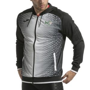 Men's Tennis Shirts and Hoodies Joma Supernova Cecchinato Hoodie  Black/White 101285.102