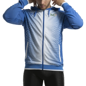 Men's Tennis Shirts and Hoodies Joma Supernova Cecchinato Hoodie  Royal Blue/White 101285.702