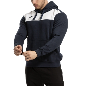 Men's Tennis Shirts and Hoodies Joma Winner Cotton Hoodie  Navy/White 101106.332