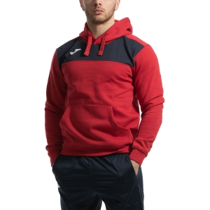 Men's Tennis Shirts and Hoodies Joma Winner Cotton Hoodie  Red/Navy 101106.603