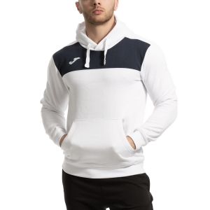 Men's Tennis Shirts and Hoodies Joma Winner Cotton Hoodie  White/Navy 101106.203