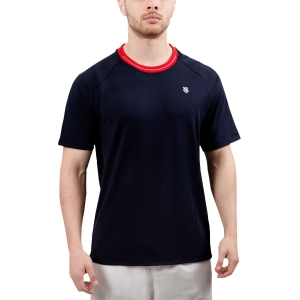 Men's Tennis Shirts KSwiss Heritage Classic TShirt  Navy/Red 102366400
