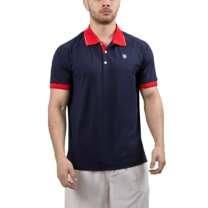 Men's Tennis Polo KSwiss Heritage Classic Polo  Navy/Red 102365400