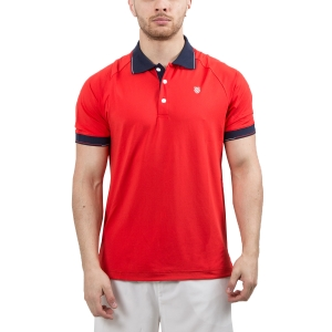 Men's Tennis Polo KSwiss Heritage Classic Polo  Red/Navy 102365600