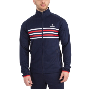 Men's Tennis Jackets KSwiss Heritage Tracksuit Jacket  Navy/Red/White 101911400EU