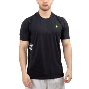 Men's Tennis Shirts KSwiss Hypercourt Crew TShirt  Black/White 102355008