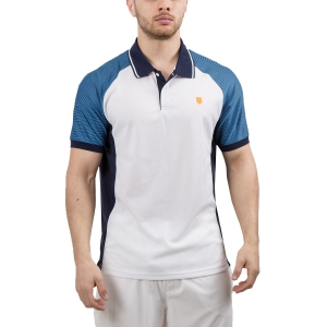 Men's Tennis Polo KSwiss Hypercourt Express Polo  White/Navy 102354109