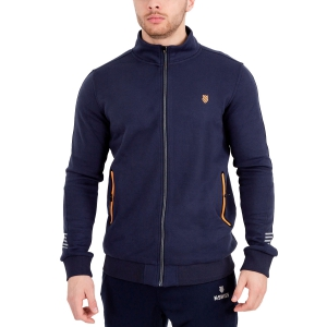 Men's Tennis Shirts and Hoodies KSwiss Hypercourt Sweat Hoodie  Navy/Orange 102362400