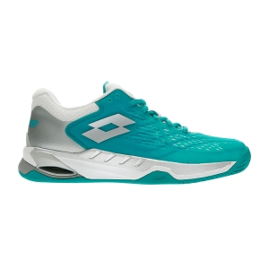 Women`s Tennis Shoes Lotto Mirage 100 Clay  Turquoise/White 2107381NW