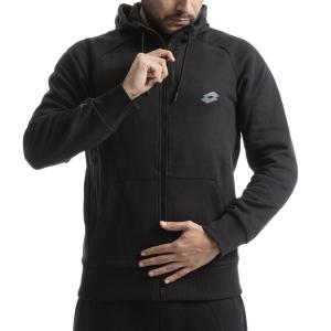 Men's Tennis Shirts and Hoodies Lotto Dinamico Sweat Full Zip Fleece Hoodie  All Black 2113911CL