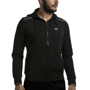 Men's Tennis Shirts and Hoodies Lotto Dinamico Sweat Full Zip Hoodie  All Black 2113971CL