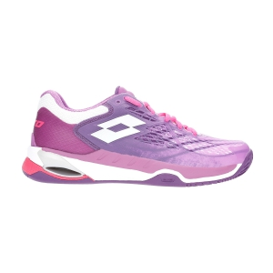Calzado Tenis Mujer Lotto Mirage 100 Clay  Purple Willow/All White/Funky Pink 21073858U