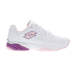 Calzado Tenis Mujer Lotto Space 400 All Round  All White/Pink Cherry/Purple Willow 210742590