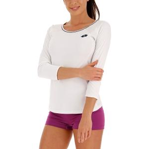 Women's Tennis Shirts and Hoodies Lotto Squadra Shirt  Brilliant White 21125307R