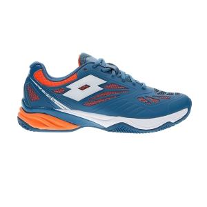 Padel Shoes Lotto Superrapida 200  Gem Blue/All White/Fanta Fluo L578331OA