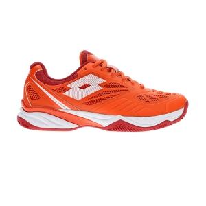 Padel Shoes Lotto Superrapida 200  Red Orange/All White/Red Toreador 211613595