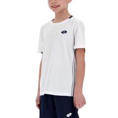 Lotto Boy Tennis Teams T-Shirt - Brilliant White