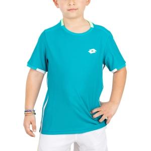Polo e Shirts Tennis Lotto Boy Tennis Teams TShirt  Turquoise 2103811CP
