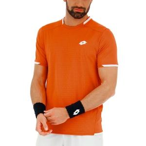 Men's Tennis Shirts Lotto Tennis Tech TShirt  Red Orange 210368513