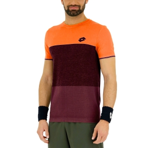Camisetas de Tenis Hombre Lotto Tech Seamless Camiseta  Red Orange/Grape Wine 21037326Q