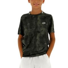 Lotto Boy Ten Printed T-Shirt - Green Resin