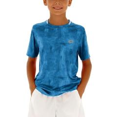 Lotto Boy Ten Printed T-Shirt - Mosaic Blue
