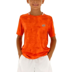Lotto Boy Ten Printed T-Shirt - Red Orange
