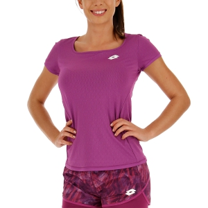 Camisetas y Polos de Tenis Mujer Lotto Tennis Tech Camiseta  Purple Willow 21038526M
