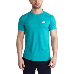 Men's Tennis Shirts Lotto Tennis Tech TShirt  Turquoise/Grey 2103681CP
