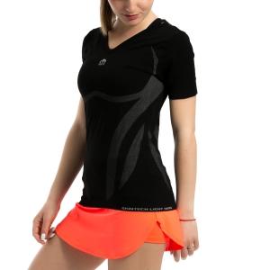 Tennis Women's Underwear Mico Skintech Light TShirt  Black IN 1805 007