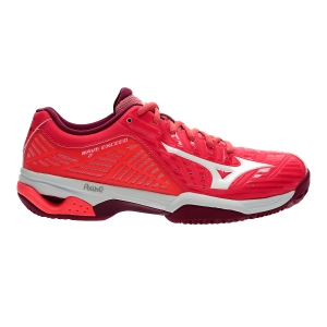 Women`s Tennis Shoes Mizuno Wave Exceed 2 Clay Court  Coral/White 61GC182301