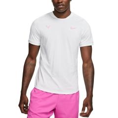 Nike Court Rafa AeroReact T-Shirt - White/China Rose