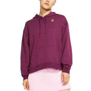 Women's Tennis Shirts and Hoodies Nike Heritage Hoodie  Bordeaux AV0766609