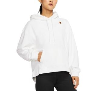 Women's Tennis Shirts and Hoodies Nike Heritage Hoodie  White AV0766100