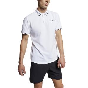 Men's Tennis Polo Nike Court Advantage Polo  White/Black AJ8110100